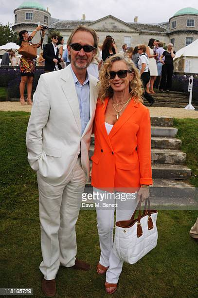 Mike Rutherford and Angie Rutherford attend the Cartier Style Luxury Lunch during the Goodwood Festival of Speed at Goodwood on July 03 2011 in...