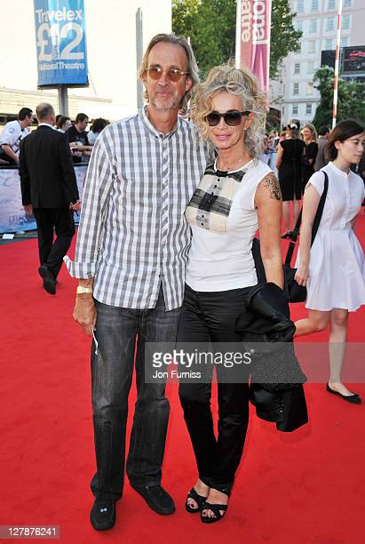 Mike Rutherford and Angie Rutherford attend the 'George Harrison Living In The Material World' UK premiere at BFI Southbank on October 2 2011 in...