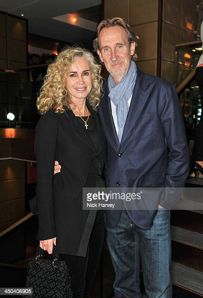 Mike Rutherford and Angie Rutherford attend the launch of Kelly Hoppen's new book 'Design Masterclass' at Belgraves Hotel on November 18 2013 in...
