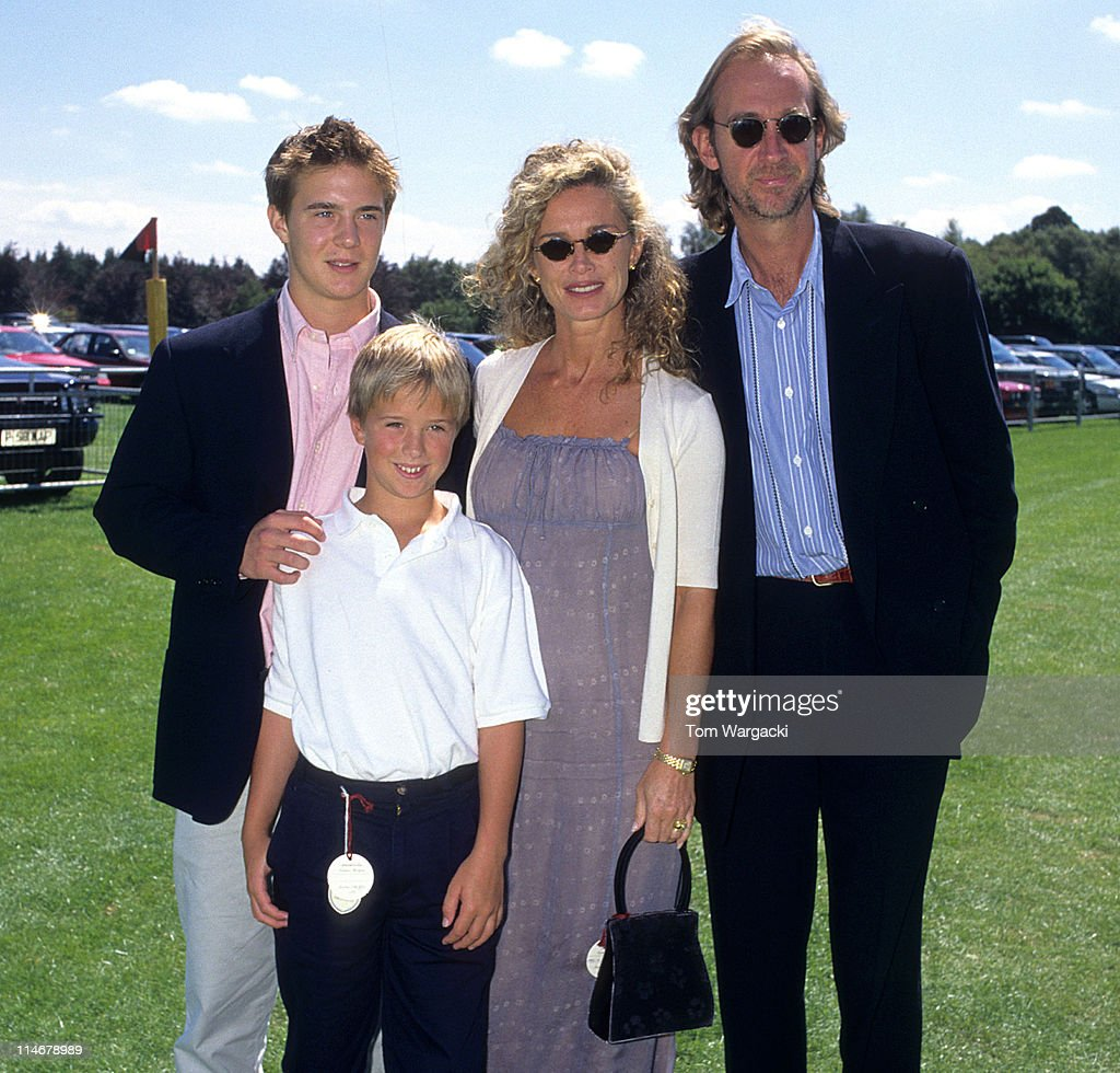 Mike Rutherford and Family at the Cartier Polo in 1997