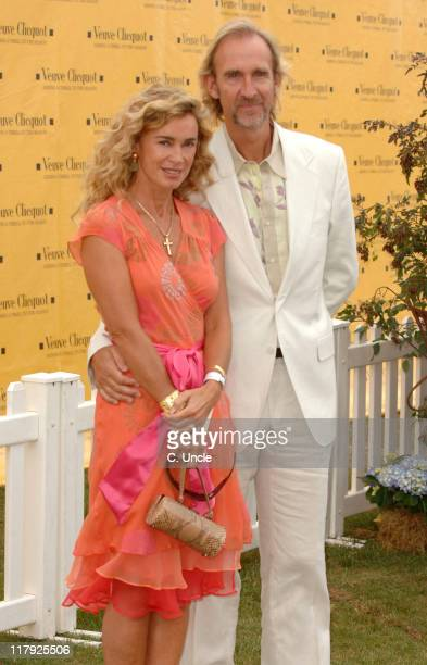 Mike Rutherford and guest during The Veuve Clicquot Gold Cup July 23 2006 at Cowdray Park in Midhurst West Sussex United Kingdom