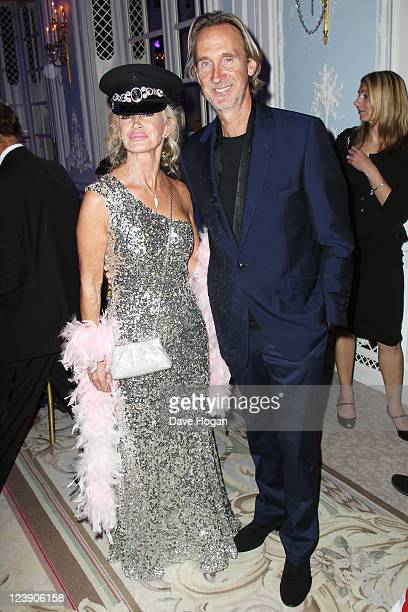 Mike Rutherford and his wife Angie Rutherford attend the Freddie For A Day 65th birthday anniversary at The Savoy Hotel on September 5 2011 in London...