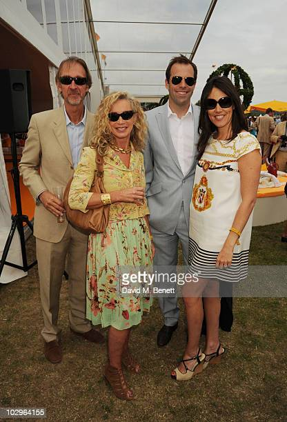 Mike Rutherford Angie Rutherford Greg Rusedski and Lucy Resedski attend the Veuve Clicquot Gold Cup Final on July 18 2010 in Midhurst England