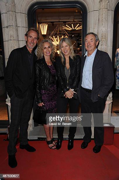 Mike Rutherford Angie Rutherford Nettie Mason and Nick Mason attend the new concept store 'The Duke Street Emporium' launched by The Jigsaw Group on...