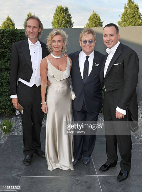 Mike Rutherford Angie Rutherford Sir Sir Elton John and David Furnish attend The 11th Annual White Tie and Tiara Ball to Benefit the Sir Elton John...
