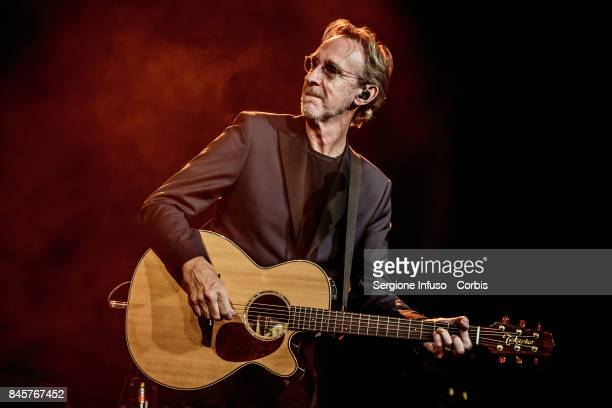 Mike Rutherford of English pop/rock supergroup Mike + The Mechanics performs on stage at Alcatraz on September 11, 2017 in Milan, Italy.