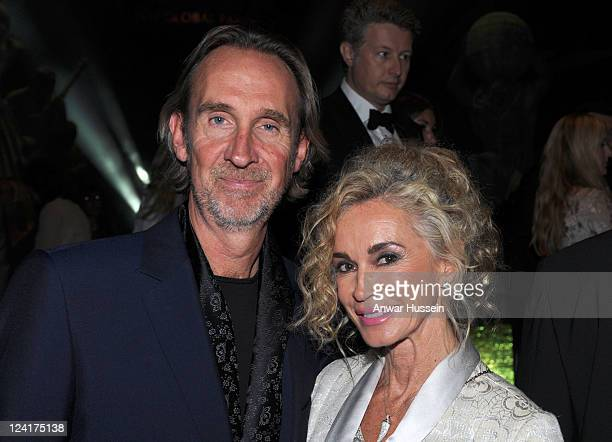Mike Rutherford of Genesis and wife Angie attend the world wide launch of the Global Party at the Natural History Museum on September 8 2011 in...
