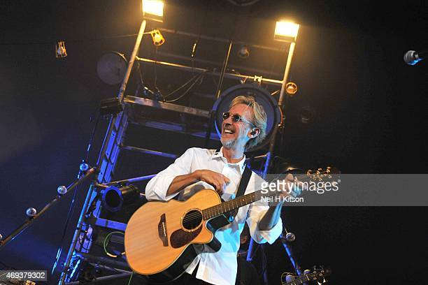 Mike Rutherford of Mike And The Mechanics at Sheffield City Hall on April 11, 2015 in Sheffield, United Kingdom.
