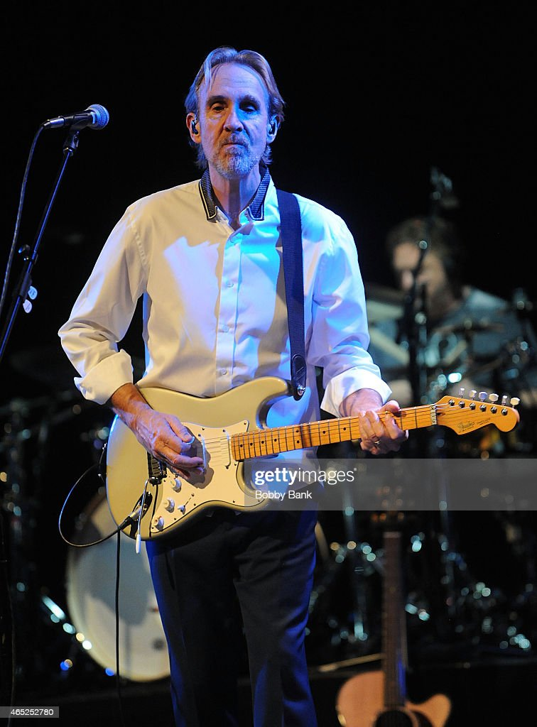 Mike Rutherford of Mike & The Mechanics performs at Best Buy Theater on March 4, 2015 in New York City.