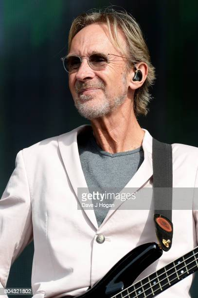Mike Rutherford of Mike The Mechanics performs on stage at the Barclaycard Presents British Summer Time Festival in Hyde Park on June 30 2017 in...