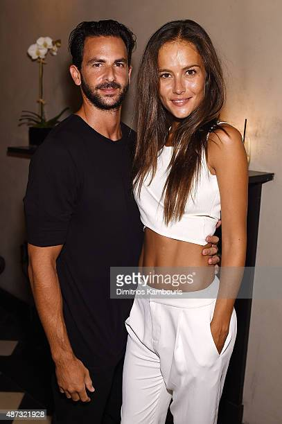 Mike Satsky of Provocateur and model Natalia Borges attend the debut of Margherita Missoni and Peroni Nastro Azzurro's Fall Fashion Collaboration...