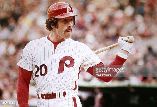 Mike Schmidt of the Philadelphia Phillies gets ready to bat during a season game . Mike Schmidt played for the Philadelphia Phillies from 1972-1989.