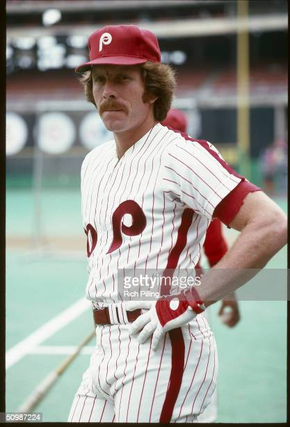 Mike Schmidt of the Philadelphia Phillies poses for a portrait in 1978 at Veterans Stadium in Philadelphia Pennsylvania