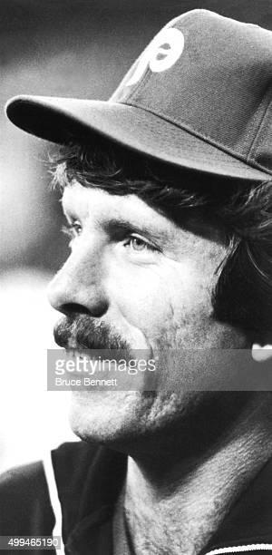 Mike Schmidt of the Philadelphia Phillies smiles before an MLB game circa 1982 at Veterans Stadium in Philadelphia, Pennsylvania.