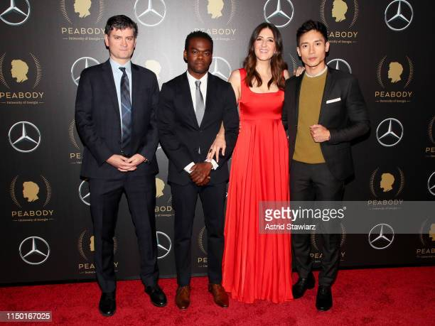 Mike Schur William Jackson Harper D'Arcy Carden and Manny Jacinto attend the 78th Annual Peabody Awards Ceremony Sponsored By MercedesBenz at...