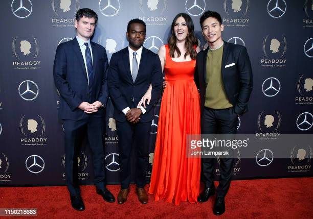 Mike Schur William Jackson Harper D'Arcy Carden and Manny Jacinto attend the 78th Annual Peabody Awards at Cipriani Wall Street on May 18 2019 in New...