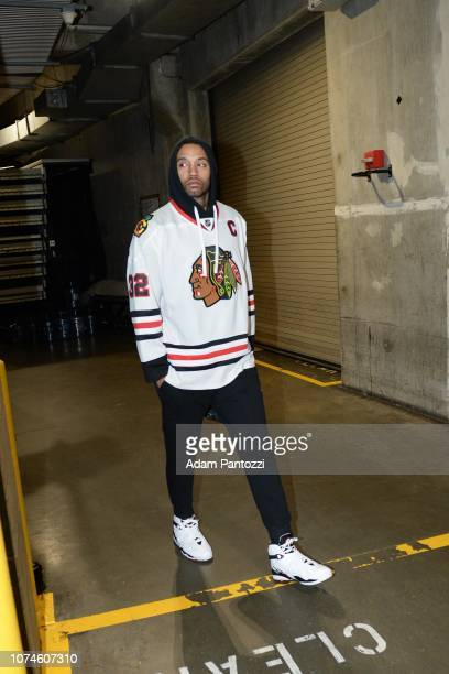 Mike Scott of the LA Clippers arrives prior to a game against the Denver Nuggets on December 22 2018 at STAPLES Center in Los Angeles California NOTE...