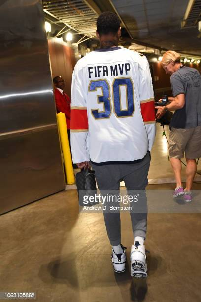 Mike Scott of the LA Clippers arrives prior to a game against the San Antonio Spurs at STAPLES Center on November 15 2018 in Los Angeles California...