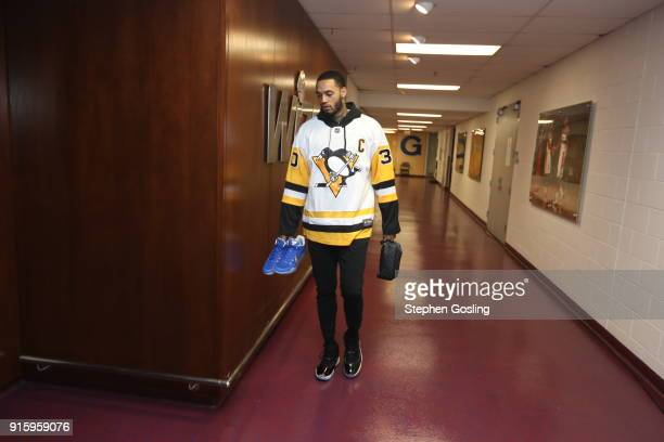 Mike Scott of the Washington Wizards arrives to the arena prior to the game against the Boston Celtics on February 8 2018 at Capital One Arena in...
