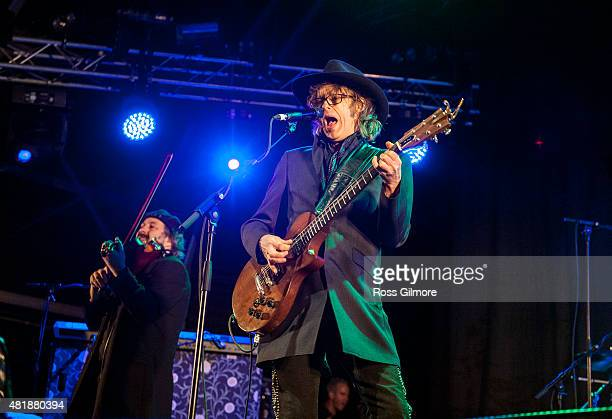 Mike Scott of The Waterboys headlines the main stage at The Wickerman Festival at Dundrennan on July 24 2015 in Dumfries Scotland