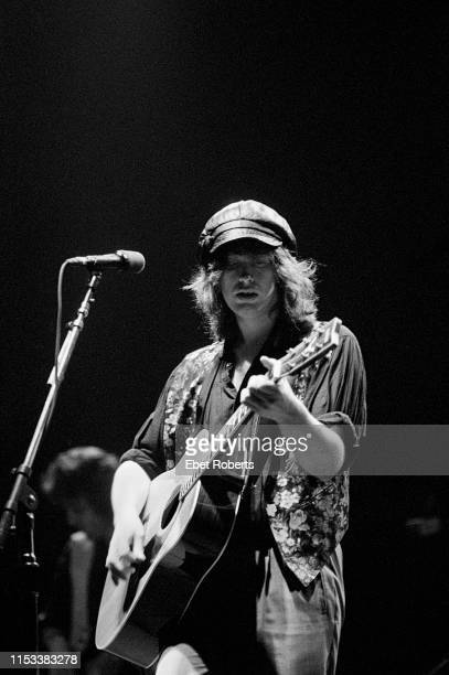 Mike Scott of The Waterboys performs at the Beacon Theatre in New York City on October 17 1989