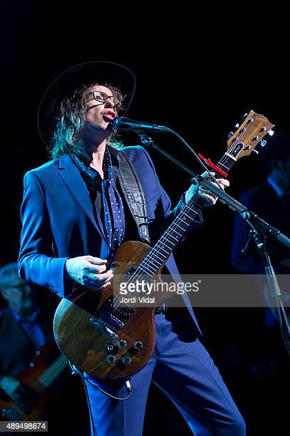 Mike Scott of The Waterboys performs on stage at Barts on September 21 2015 in Barcelona Spain