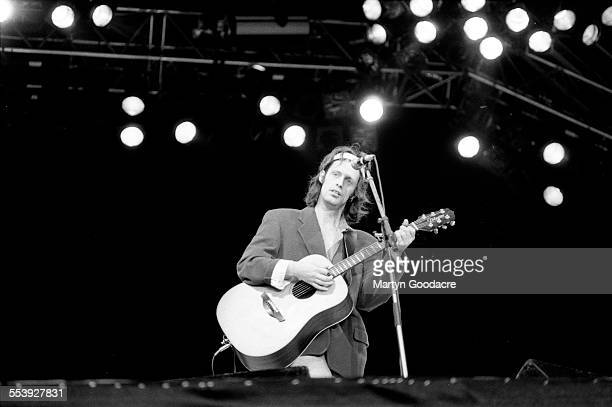 Mike Scott of The Waterboys performs on stage at Feile Festival Ireland Ireland 1990