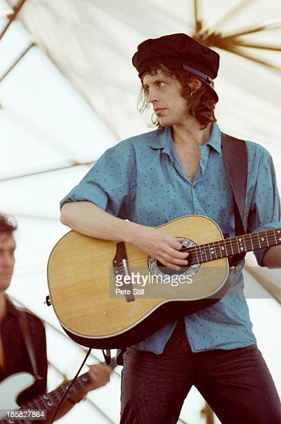 Mike Scott of The Waterboys performs on stage at Milton Keynes Bowl on June 21st 1986 in Milton Keynes England