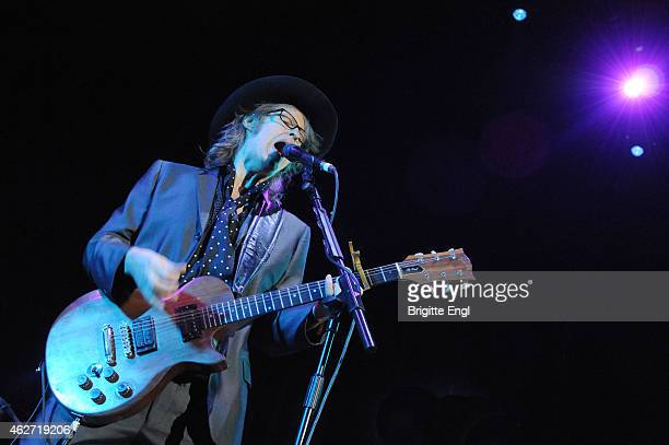 Mike Scott of The Waterboys performs on stage at The Roundhouse on February 3 2015 in London United Kingdom