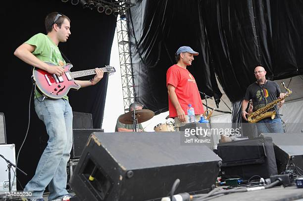 Mike Seal Bill Fanning Jeff Sipe nad Jeff Coffin of Jeff Coffin Mu'tet perform during the final day of Dave Matthews Band Caravan at Lakeside on July...