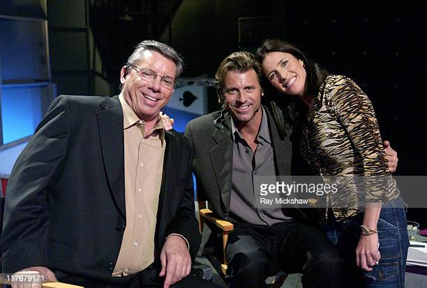 Mike Sexton Vince Van Patten and Mimi Rogers at the World Poker Tour Hollywood Home Game which airs on the Travel Channel
