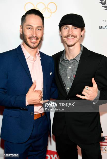 Mike Shea and Noah Elliott attend the 2019 Team USA Awards at Universal Studios Hollywood on November 19 2019 in Universal City California