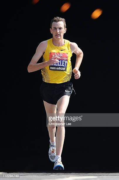 Mike Shelley of Australia during the Virgin London Marathon 2011 on April 17 2011 in London England