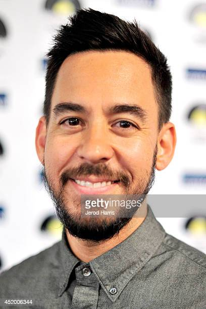 Mike Shinoda attends the Los Angeles Premiere of 'The Distortion of Sound' at The GRAMMY Museum on July 10 2014 in Los Angeles California