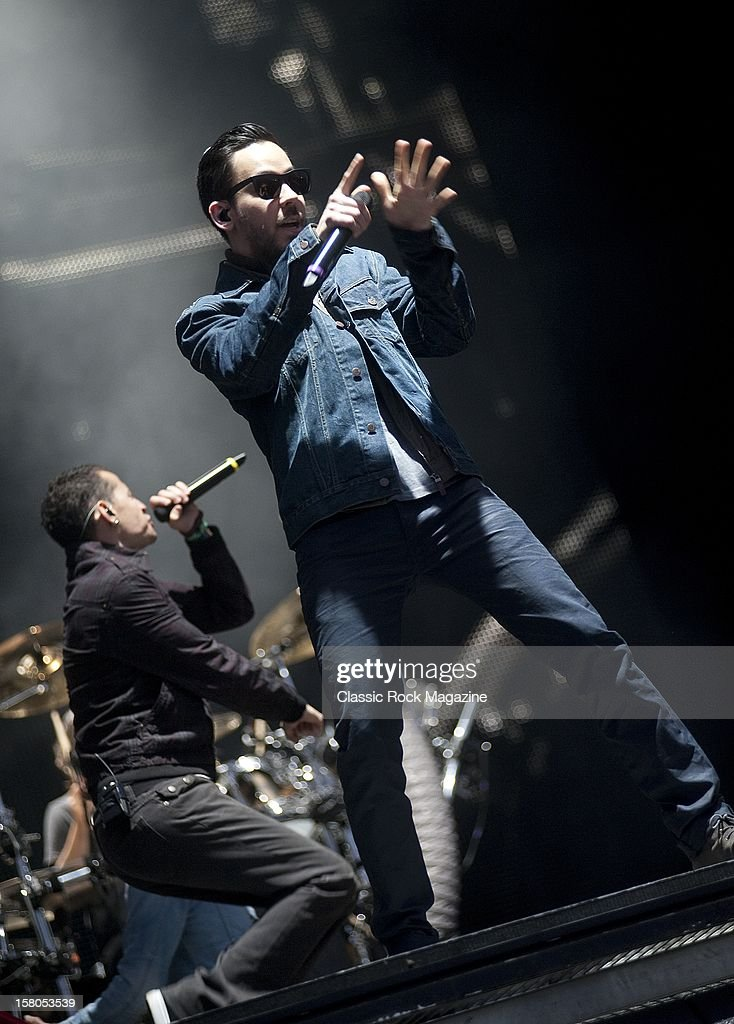 Mike Shinoda from Linkin Park, live onstage at Download Festival