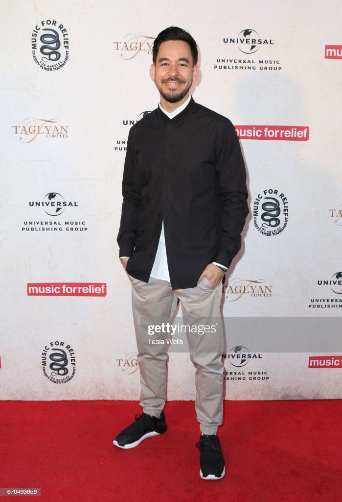 Mike Shinoda of Link Park attends Linkin Park's Music for Relief - Charity Poker Tournament at Taglyan Cultural Complex on April 19, 2017 in Hollywood, California.