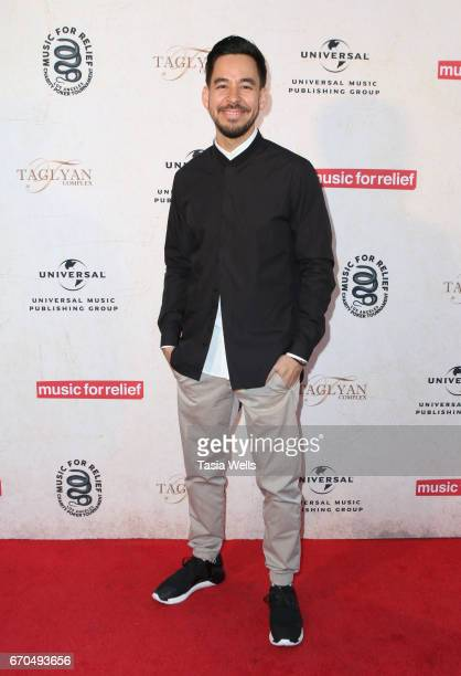 Mike Shinoda of Link Park attends Linkin Park's Music for Relief Charity Poker Tournament at Taglyan Cultural Complex on April 19 2017 in Hollywood...