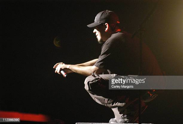 Mike Shinoda of Linkin Park during KRock ClausFest 2003 Day One at Hammerstein Ballroom in New York City New York United States