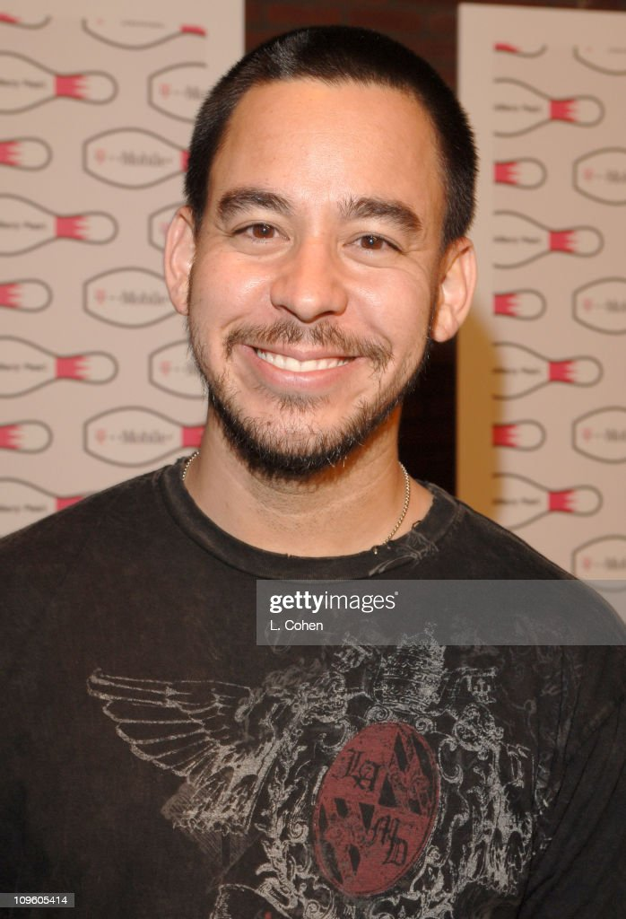 Mike Shinoda of Linkin Park during T-Mobile Launches The New BlackBerry Pearl with a Night of Bowling for Charity - Red Carpet at Lucky Strike Lanes in Los Angeles, Hollywood, United States.