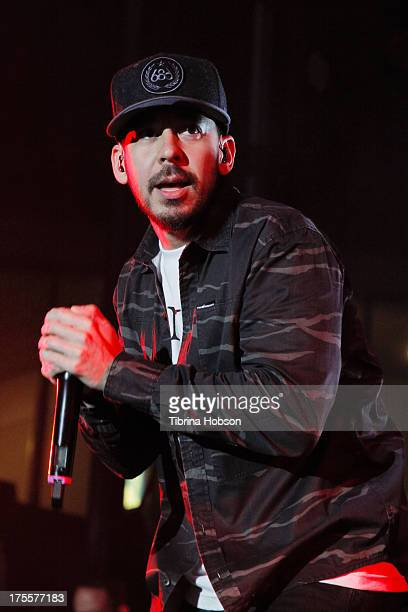 Mike Shinoda of Linkin Park performs at the 6th annual Sunset Strip Music Festival on the Sunset Strip on August 3 2013 in West Hollywood California