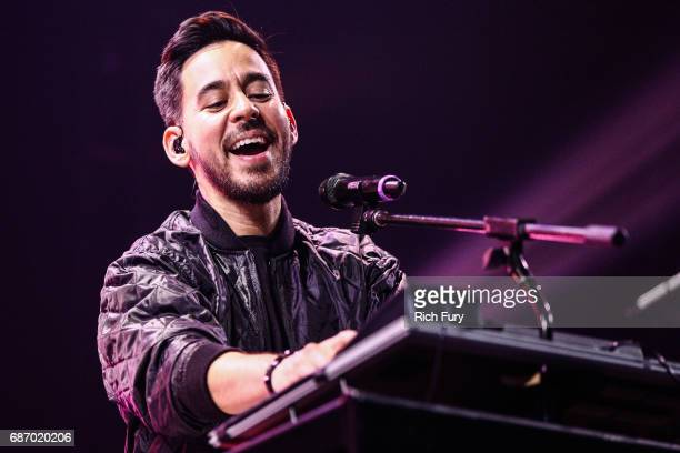 Mike Shinoda of Linkin Park performs on stage at the iHeartRadio Album Release Party presented by State Farm at the iHeartRadio Theater Los Angeles...