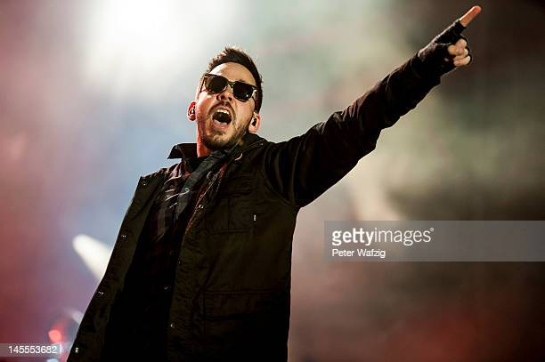 Mike Shinoda of Linkin Park performs on stage during the first day of Rock Am Ring on June 01 2012 in Nuerburg Germany