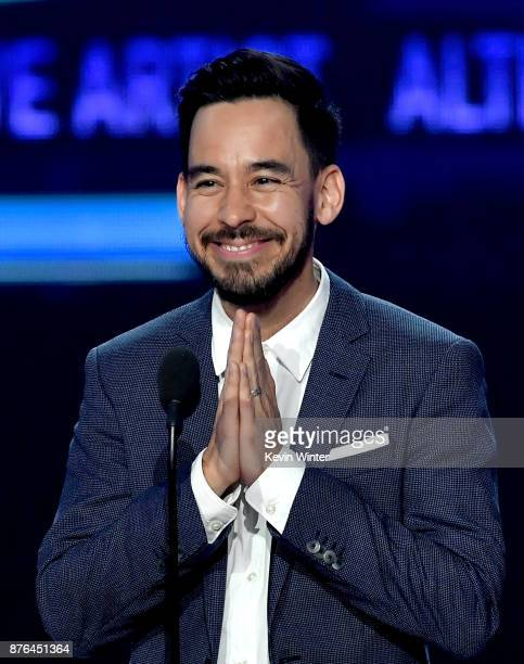 Mike Shinoda of music group Linkin Park accepts the Favorite Artist Alternative Rock award onstage during the 2017 American Music Awards at Microsoft...