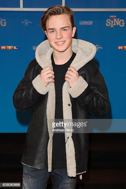 Mike Singer attends the European premiere of 'Sing' at Cinedom on November 27 2016 in Cologne Germany