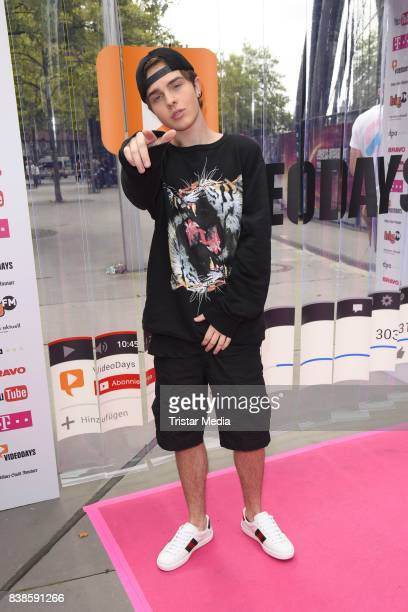Mike Singer during the red carpet arrivals at the VideoDays 2017 at Lanxess Arena on August 24 2017 in Cologne Germany