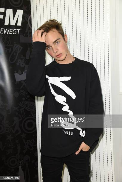 Mike Singer poses during his visit to the radio station 936 JAM FM Radio on February 24 2017 in Berlin Germany