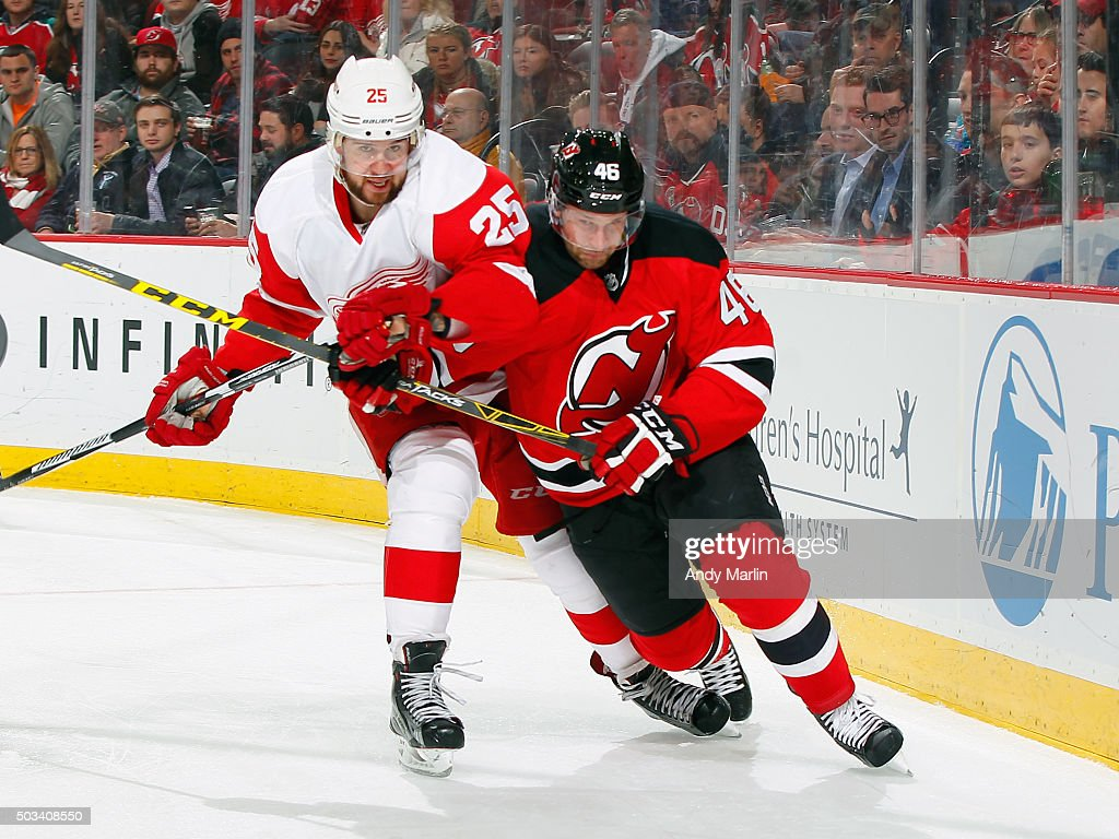 sale retailer ddb4f c97a0 Mike Sislo of the New Jersey Devils and Mike Green of the ...