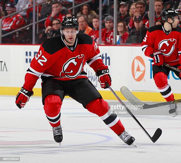 Mike Sislo of the New Jersey Devils skates against the Washington Capitals  at the Prudential Center b8b12d97d