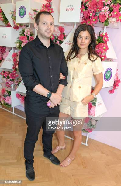Mike Skinner and Claire Le Marquand attend the evian Live Young suite at The Championships Wimbledon 2019 on July 11 2019 in London England
