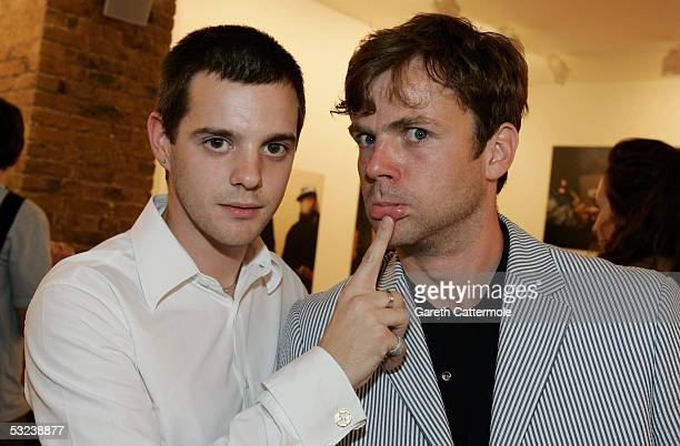 Mike Skinner and Photographer Ewen Spencer are pictured at the Private View for A Life of Grime a preview of Ewen Spencer's photographs documenting...